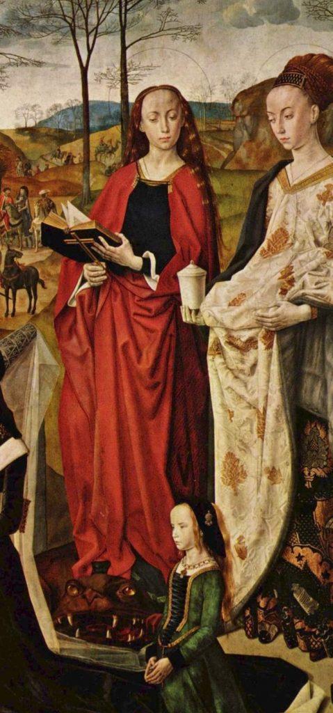 Hugo van der Goes, Portinari Altarpiece inset