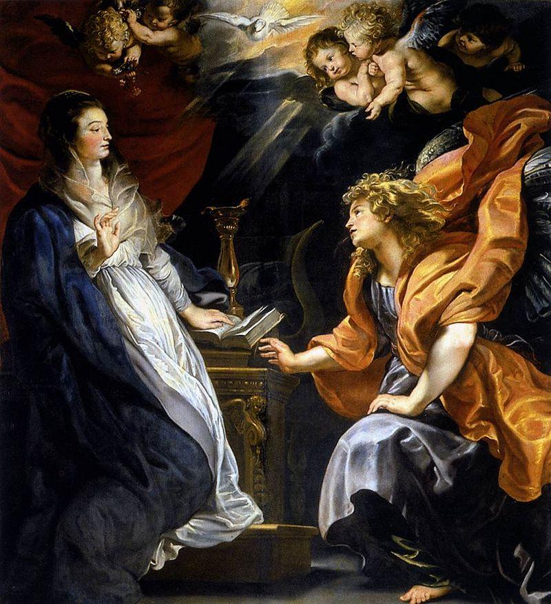 The Annunciation, Rubens, c. 1609. Image c/o Wikimedia.