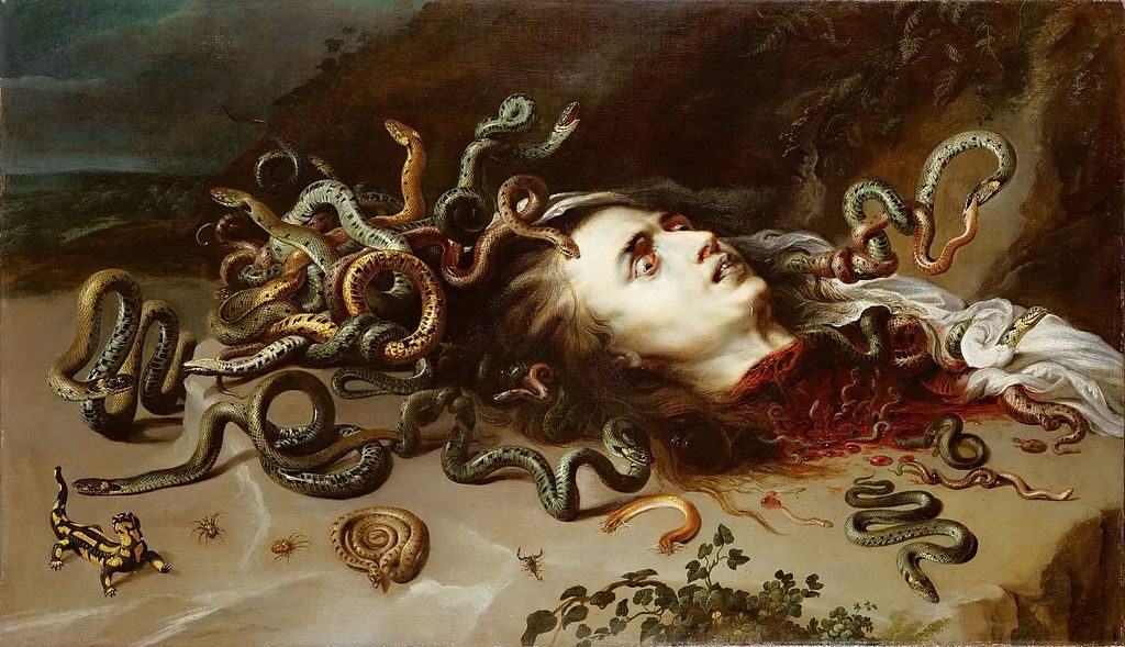 Head of Medusa, Rubens, c. 1617-18. Image c/o Wikimedia.