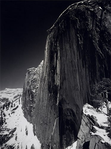 Ansel Adams' Monolith, The Face of Half Dome, featured in our new third-grade Photography unit. Image c/o Art Docent Program.