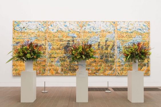 A past Bouquets to Art exhibit. Image c/o fshmagazine.com via Pinterest.
