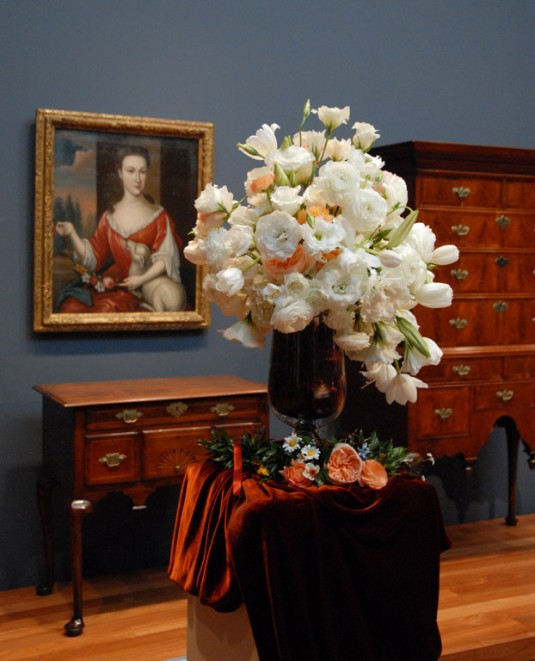 A floral design and artwork pairing from 2011. Image c/o Fine Art Museums of San Francisco's website.