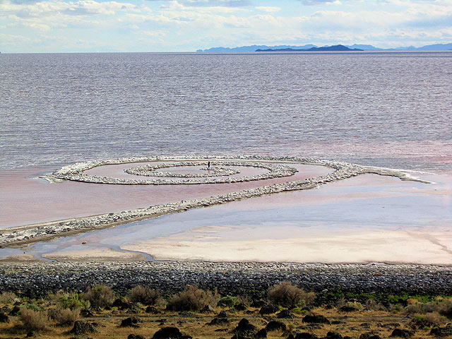 Spiral Jetty when the lake's water levels are high. Image c/o Wikimedia