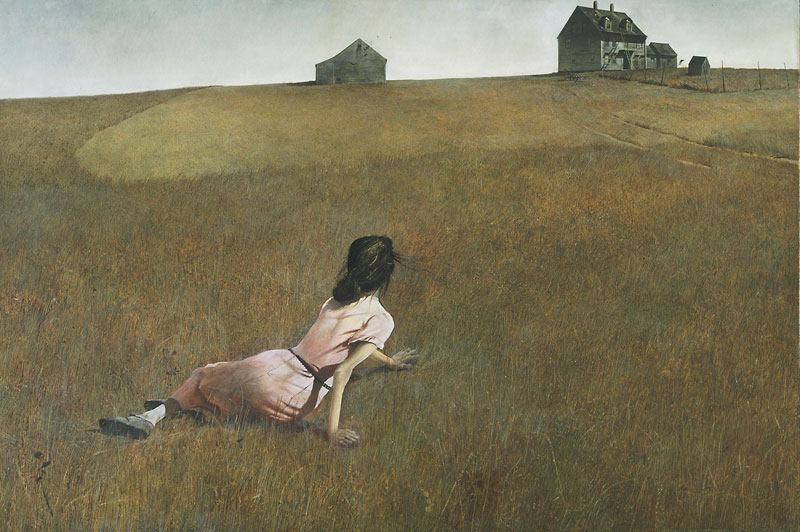 Christina's World by Andrew Wyeth. Image c/o the Art Docent Program.