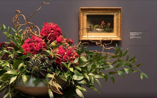 A floral design at last year's Bouquets to Art exhibit. Image c/o the de Young's website.