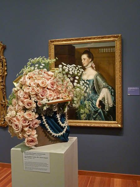 A past floral design and artwork pairing at Bouquets to Art. Image c/o Fine Art Museums of San Francisco via Pinterest.