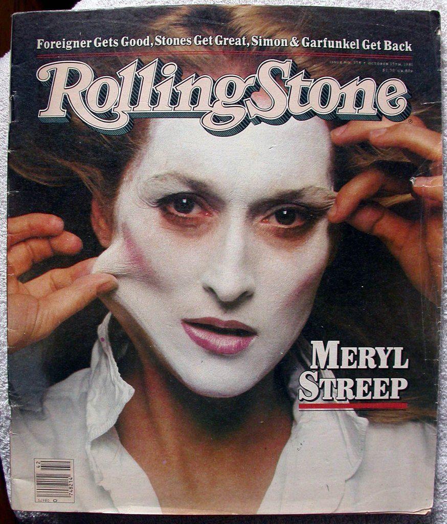 Meryl Streep's Rolling Stone 1981 cover shot by Annie Leibovitz. Image c/o Pinterest.