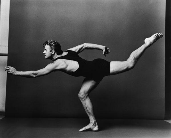 One of Leibovitz's many photographs of dancer Mikhail Baryshnikov. Image c/o PBS.