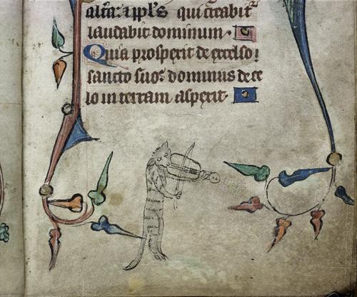 London, British Library, Harley MS 6563 f. 40 Cat in a Tower c. 1320-1330https://www.bl.uk/catalogues/illuminatedmanuscripts/record.asp?MSID=8836&CollID=8&NStart=6563&_ga=2.75149970.1453945175.1564677405-2003165427.1559839113