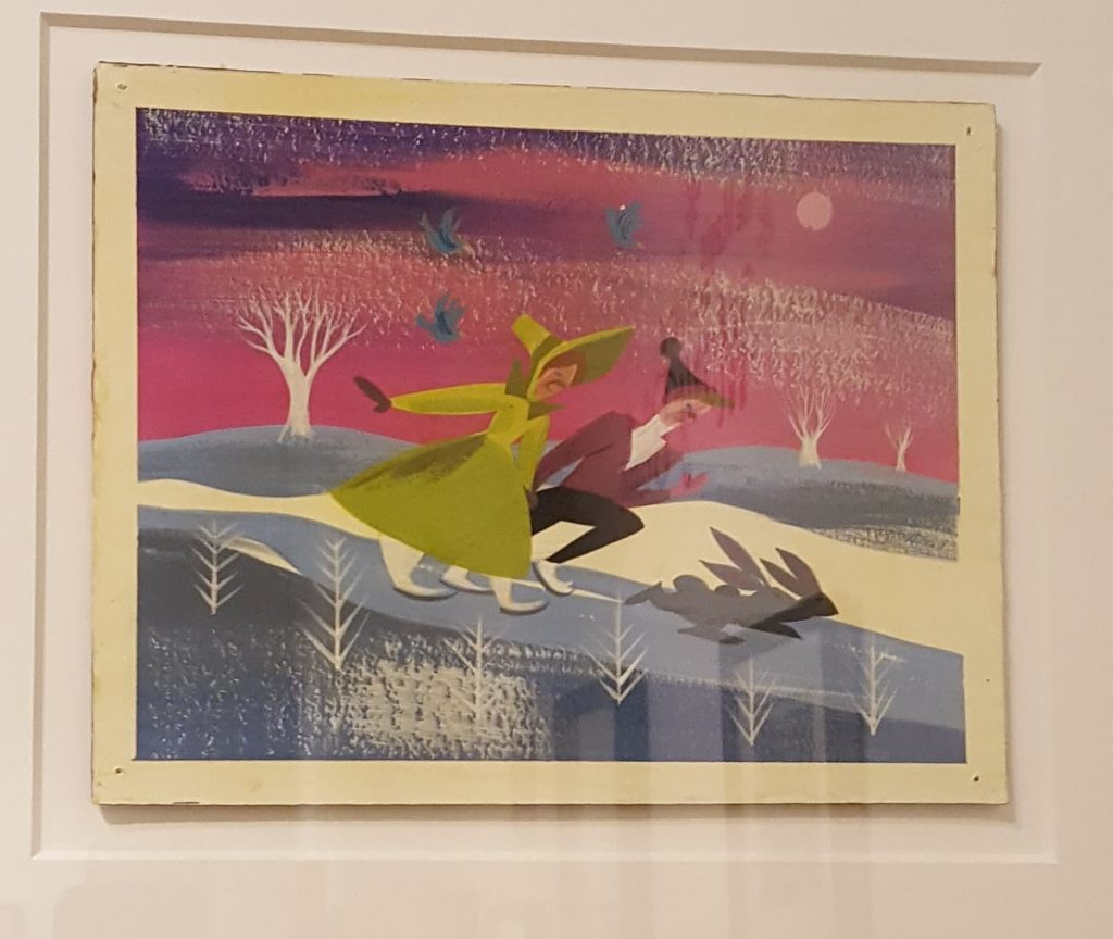 Mary Blair, Once Upon a Wintertime (concept art for Disney's Melody Time), c. 1948.