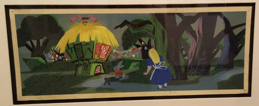 Mary Blair, Alice Follows the White Rabbit, 1951.