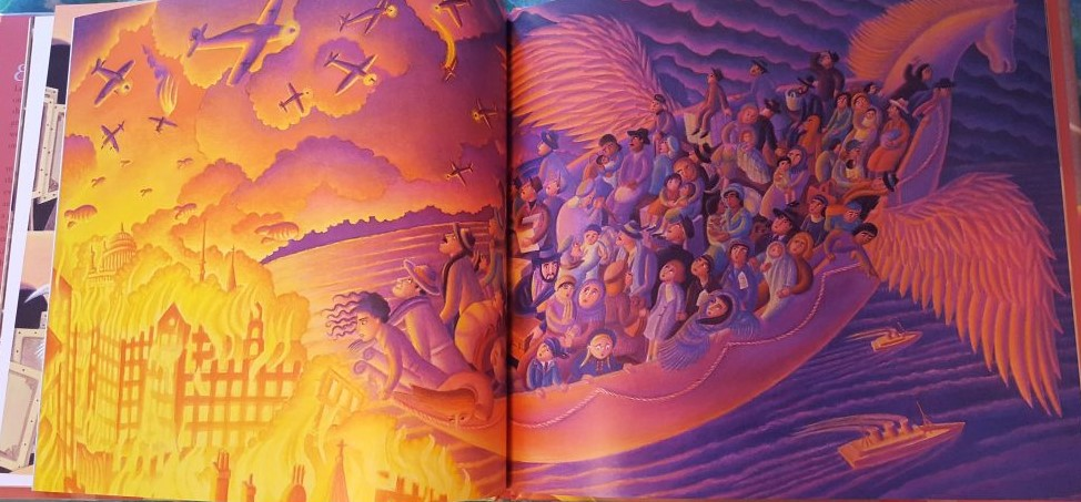 Two illustrated pages from Out of This World.