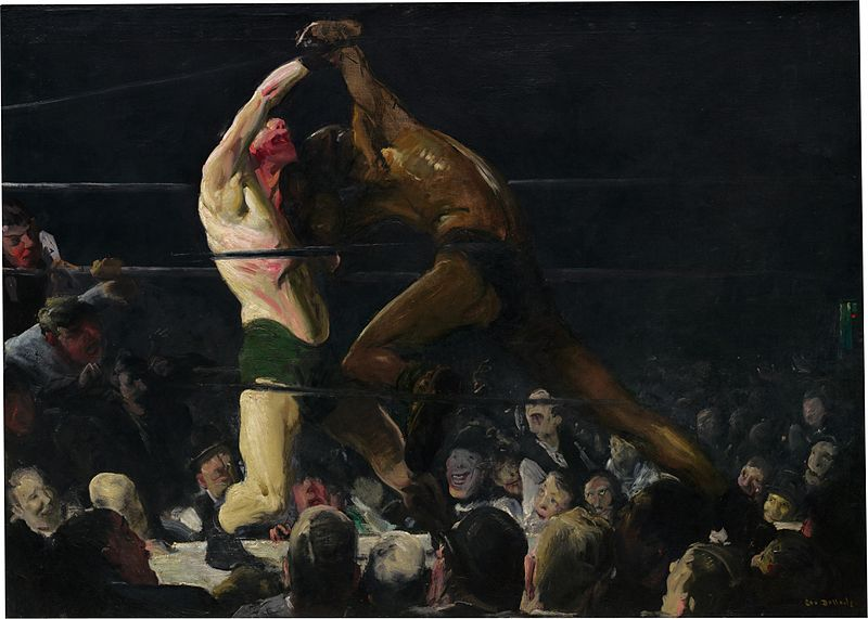 Both Members of This Club, George Bellows, 1909. Image c/o Wikimedia. Two men box.