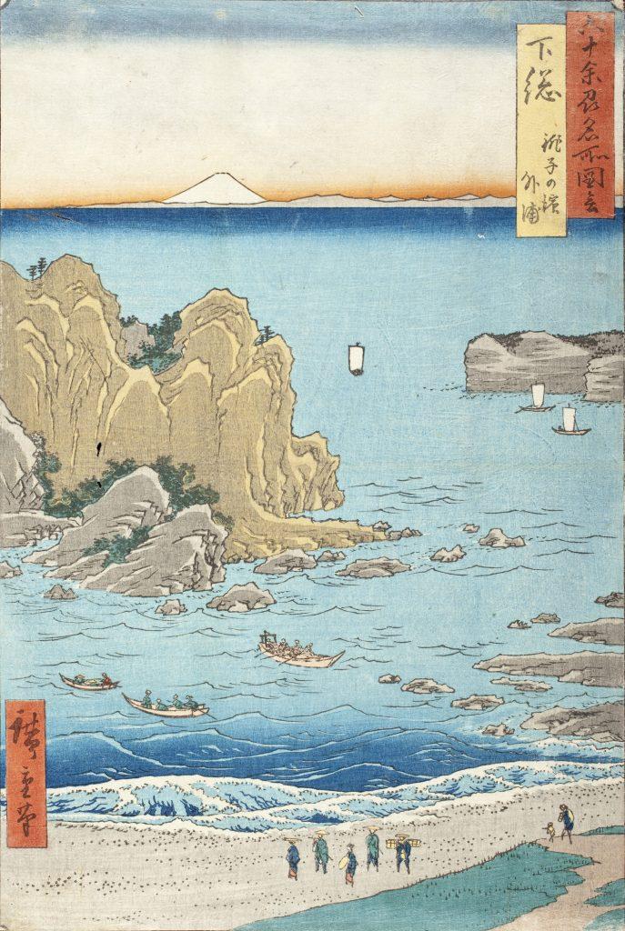 Shimōsa Province, Chōshi Beach, Toura, Utagawa Hiroshige, c. 1853
