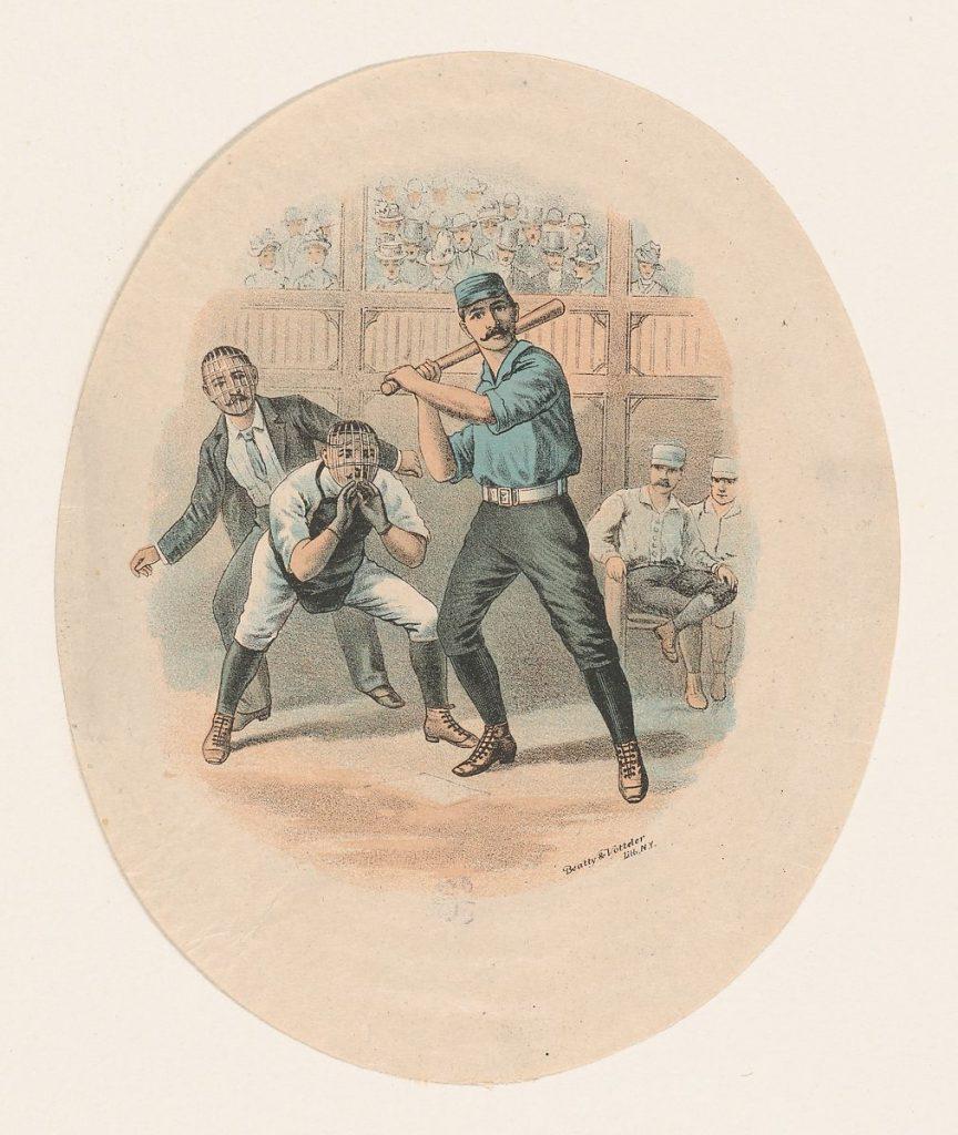 Baseball Scene, Beatty and Votteler, 1880–1900. Image c/o the Met.