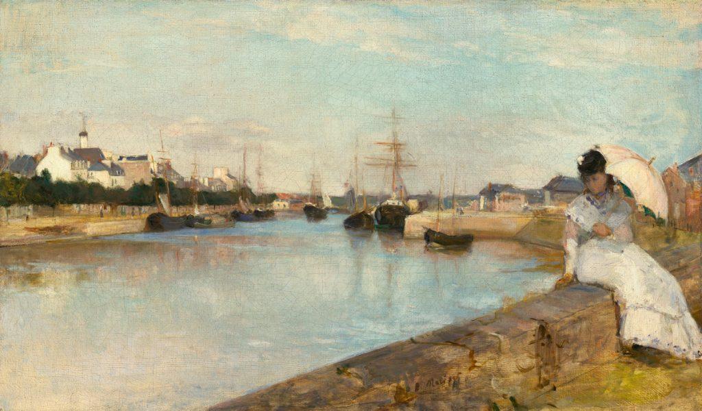 The Harbor at Lorient, Berthe Morisot, 1869
