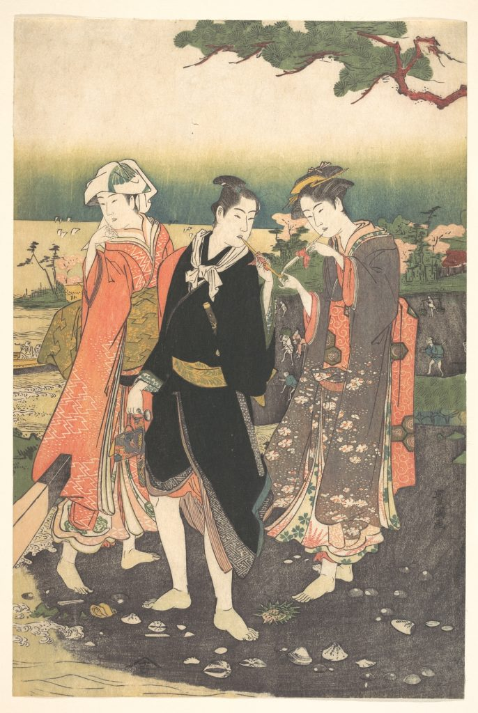 On Shinagawa Beach at Ebb-Tide, Utagawa Toyokuni, c. 1769–1825