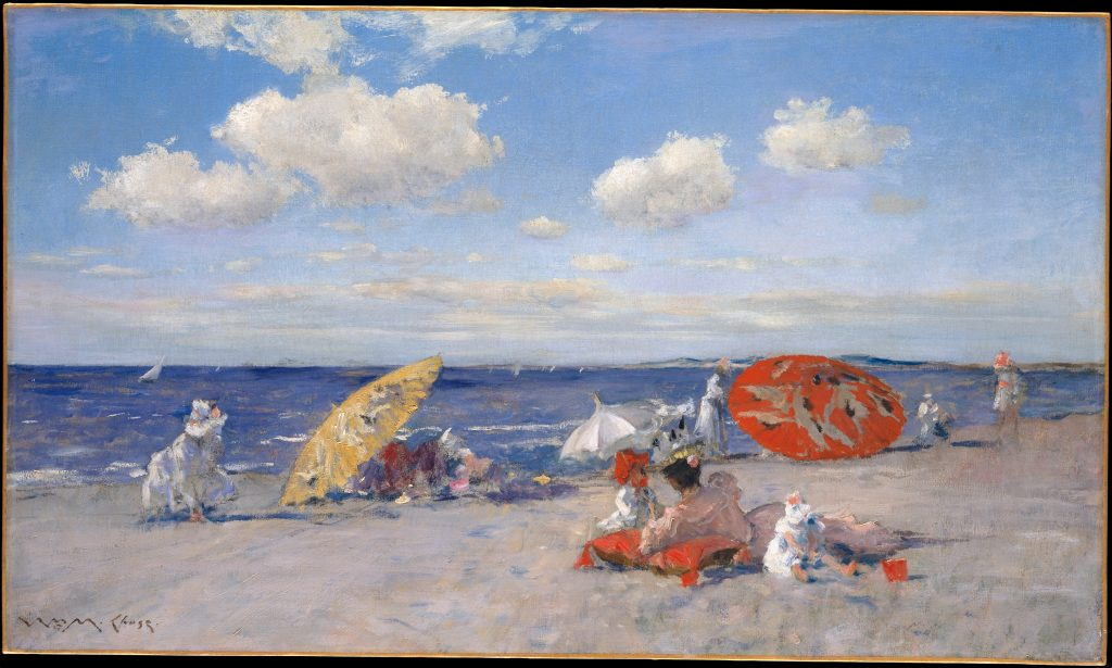 At the Seaside, William Merritt Chase, c. 1892